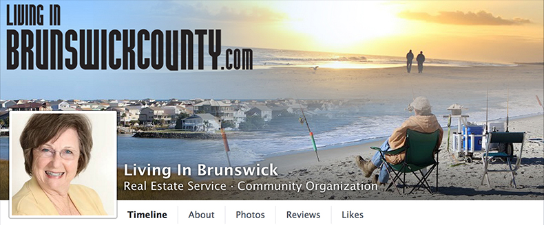 screen capture of living in brunswick county facebook page
