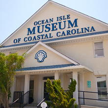 Graphic link to Ocean Isle Museum of coastal Carolina blog page