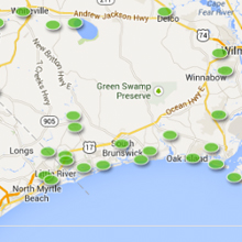 Moving to Brunswick County page, link to Homes for sale search tool
