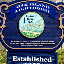 Graphic link to Oak Island Lighthouse blog page