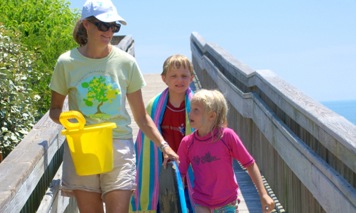 Brunswick family on Pier. Brunswick county NC, area demographics page