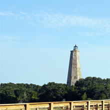 thumbnail of the famous bald head island lighthouse