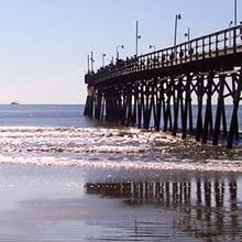 thumbnail of the sunset beach pier in north carolina