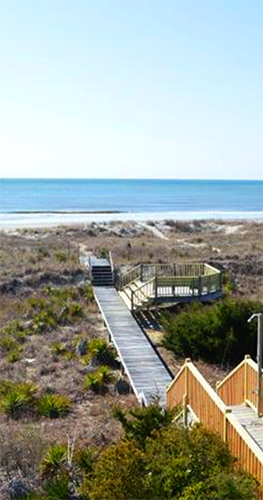 staircase leading down to Holden beach