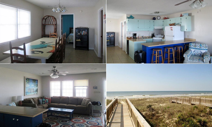 Four pictures of a lovely home for sale in Holden Beach
