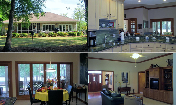 Four pictures of a lovely home for sale in Brunswick County