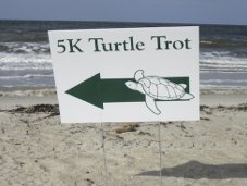 Turtle Trot 5k route sign